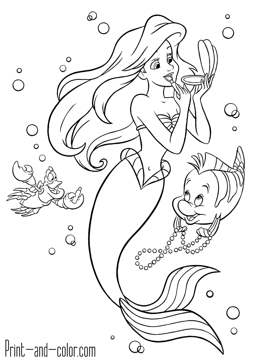 coloring little mermaid print download find the suitable little mermaid little mermaid coloring