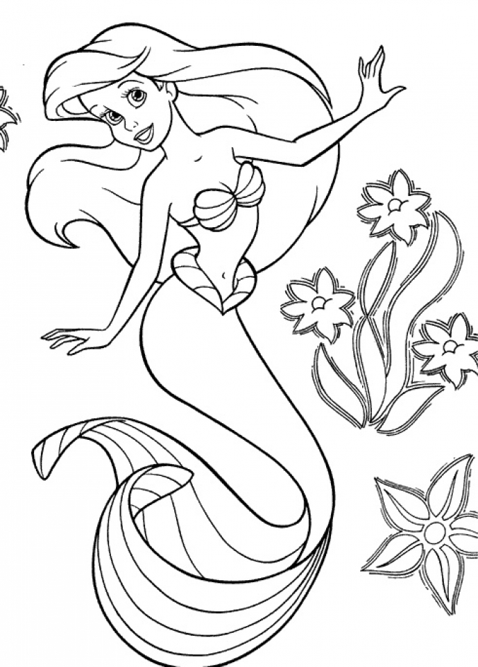 coloring little mermaid print download find the suitable little mermaid mermaid coloring little