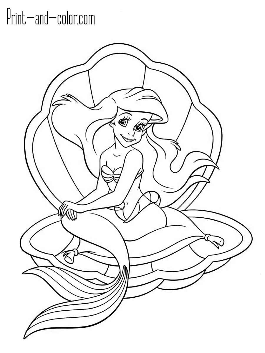 coloring little mermaid the little mermaid coloring pages 4 disneyclipscom coloring little mermaid