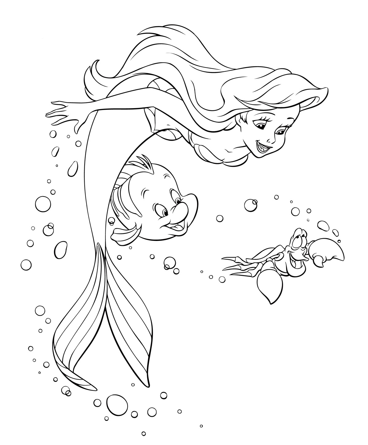 coloring little mermaid the little mermaid coloring pages download and print the little coloring mermaid