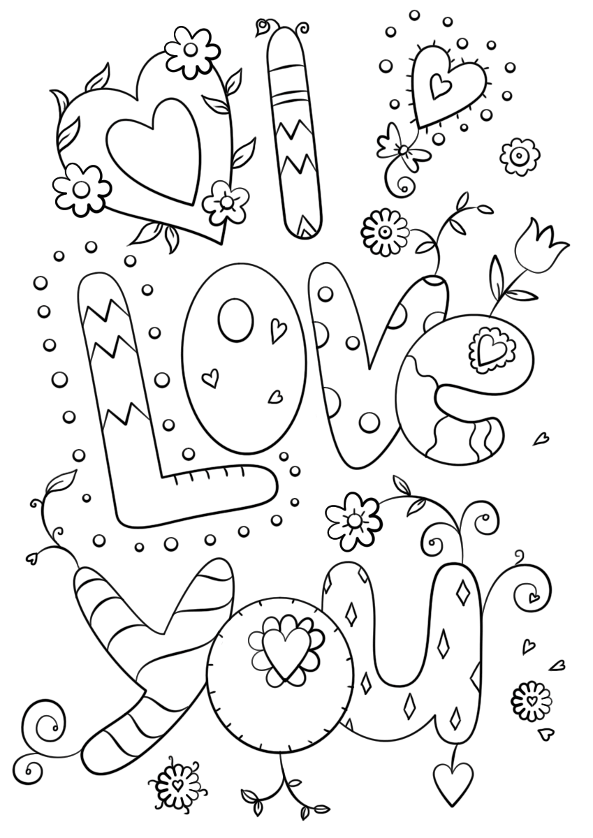 coloring love free printable love pdf coloring page love coloring