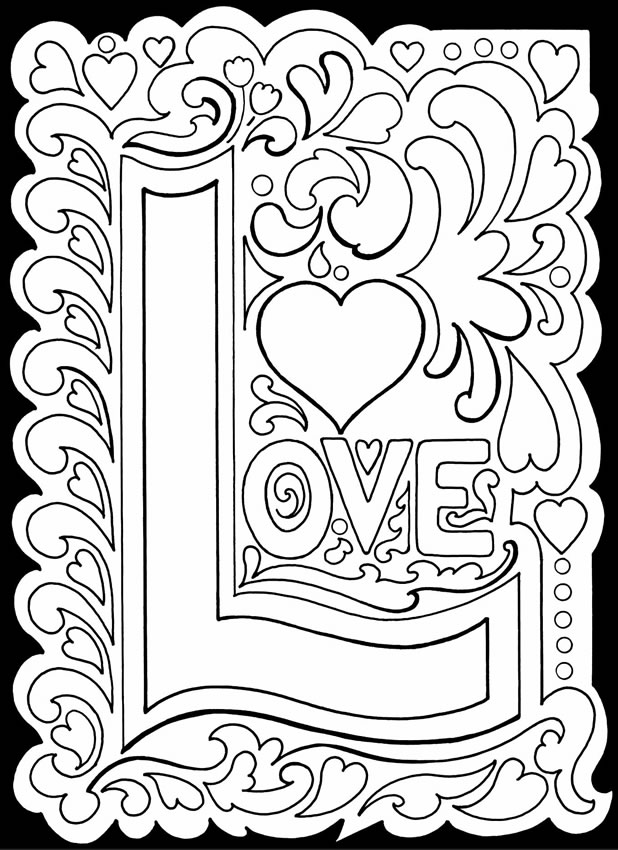 coloring love month of love coloring love