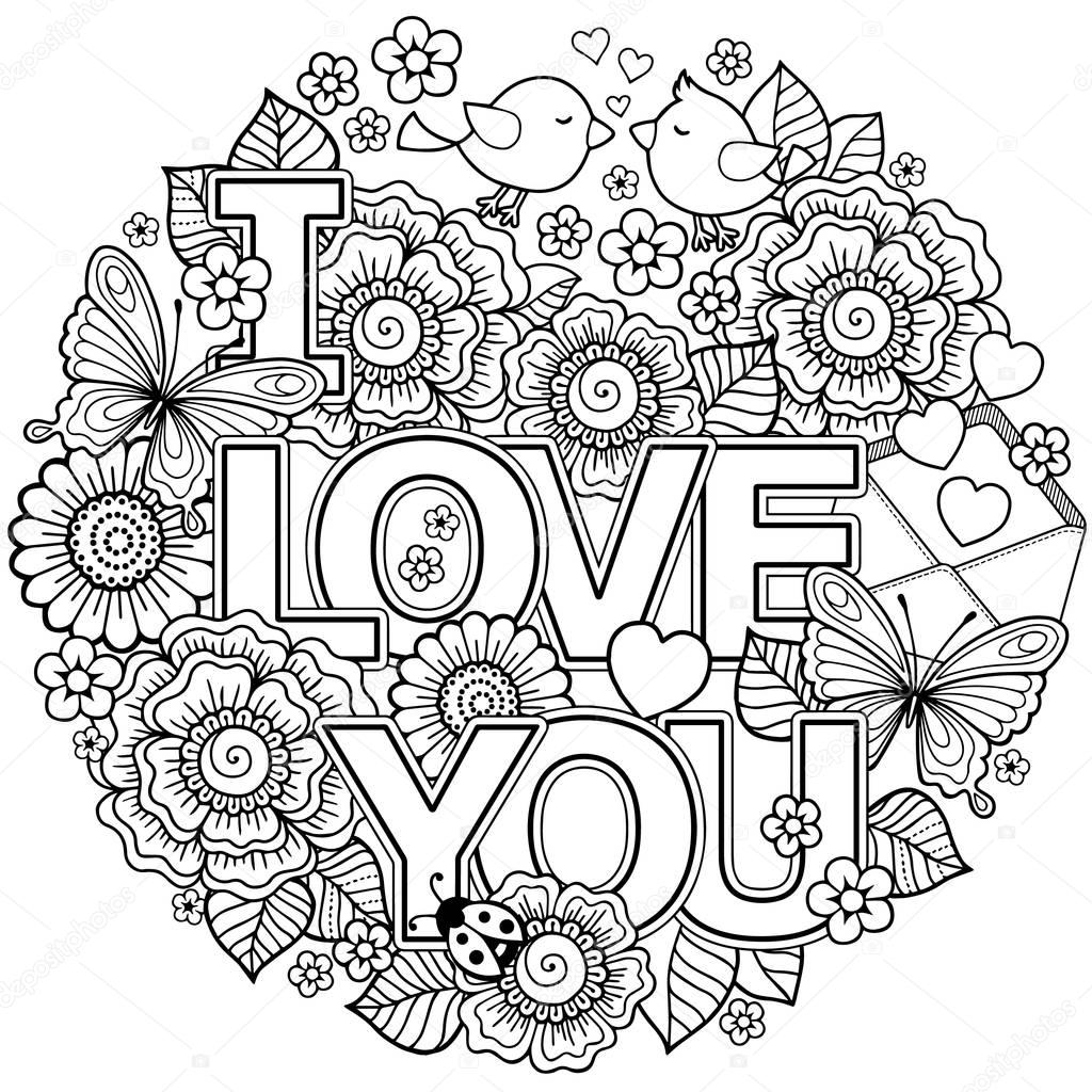 coloring love quoti love you quot coloring pages love coloring