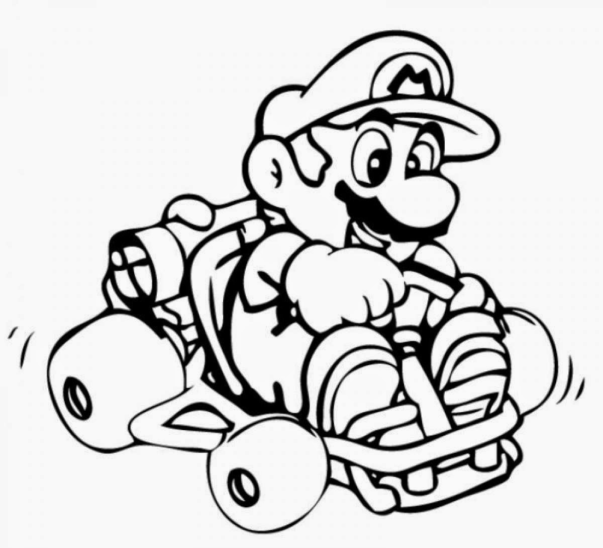 coloring mario kart go kart coloring pages coloring home mario coloring kart