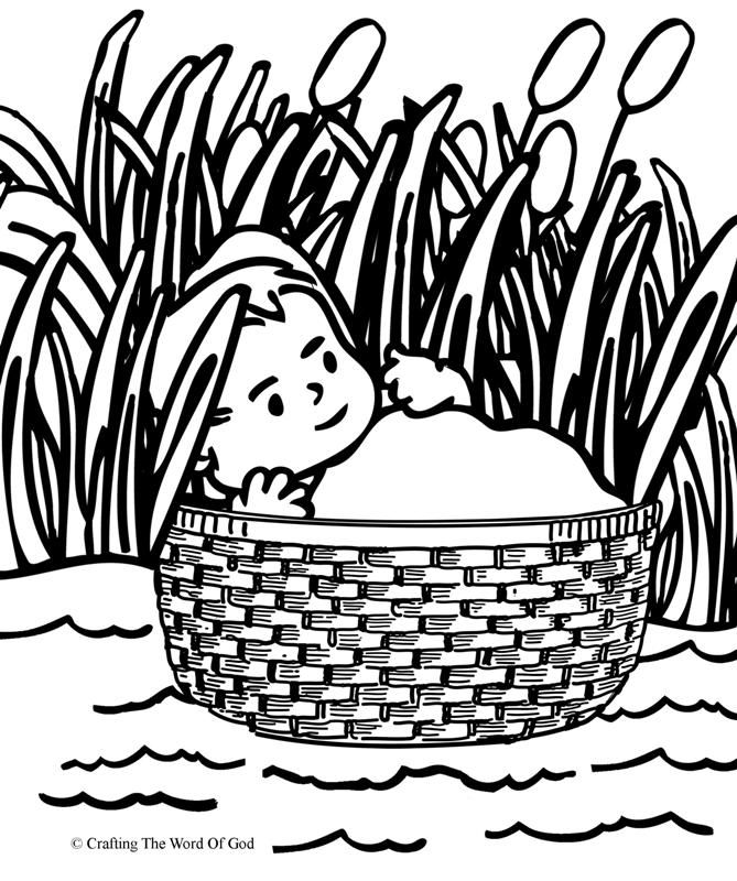 coloring moses in a basket church house collection blog baby moses in the basket coloring a in basket moses