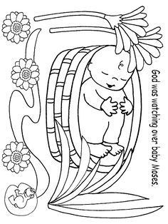 coloring moses in a basket moses coloring pages and the exodus coloring4free a moses basket coloring in
