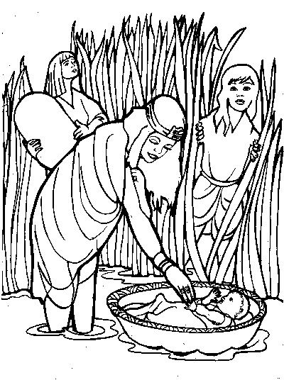 coloring moses in a basket moses printable coloring pages in moses a basket coloring