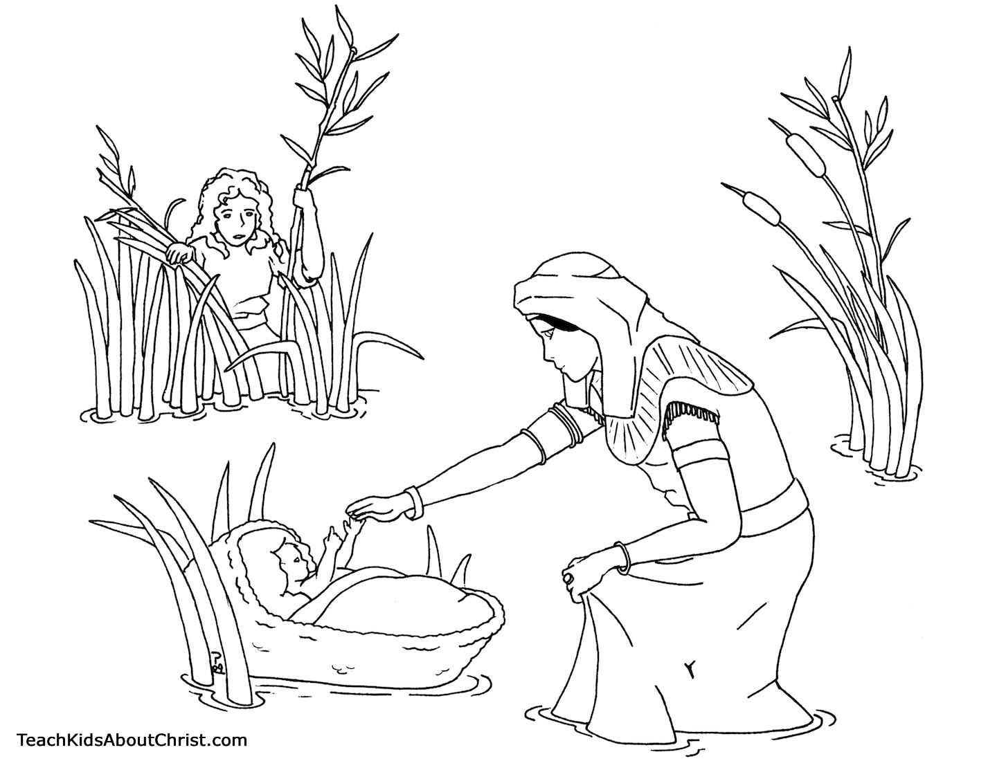 coloring moses in a basket pin on religious coloring pages a basket moses coloring in