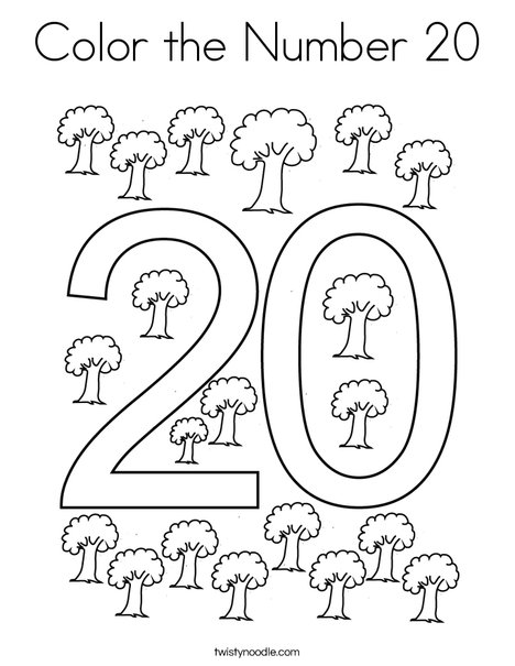 coloring number 20 my number 20 coloring page twisty noodle 20 number coloring