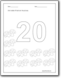 coloring number 20 number 20 coloring page getcoloringpagescom 20 coloring number