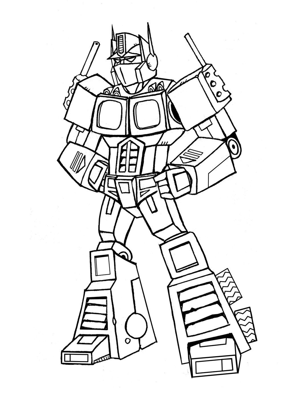 Coloring optimus prime transformer