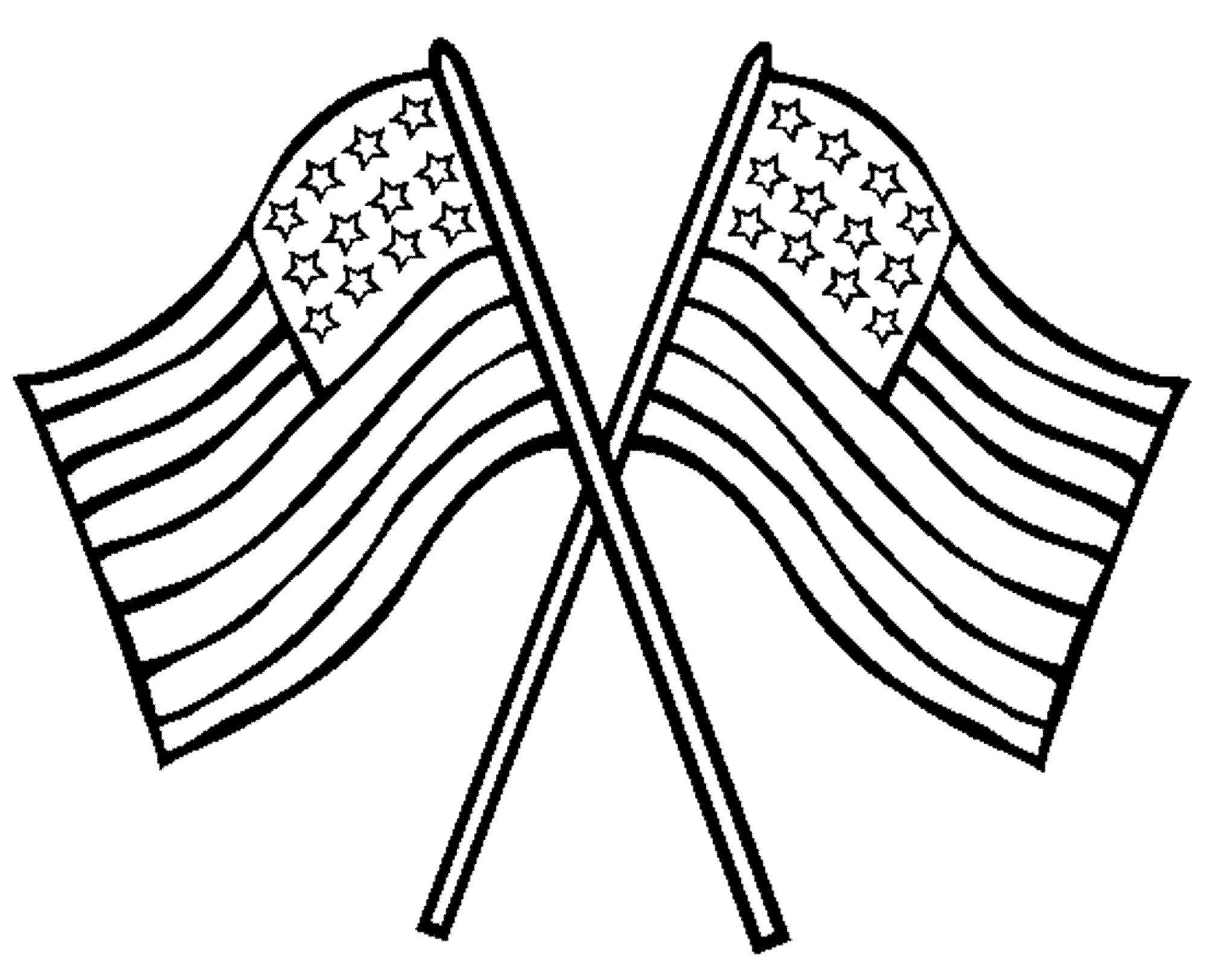 Coloring page american flag