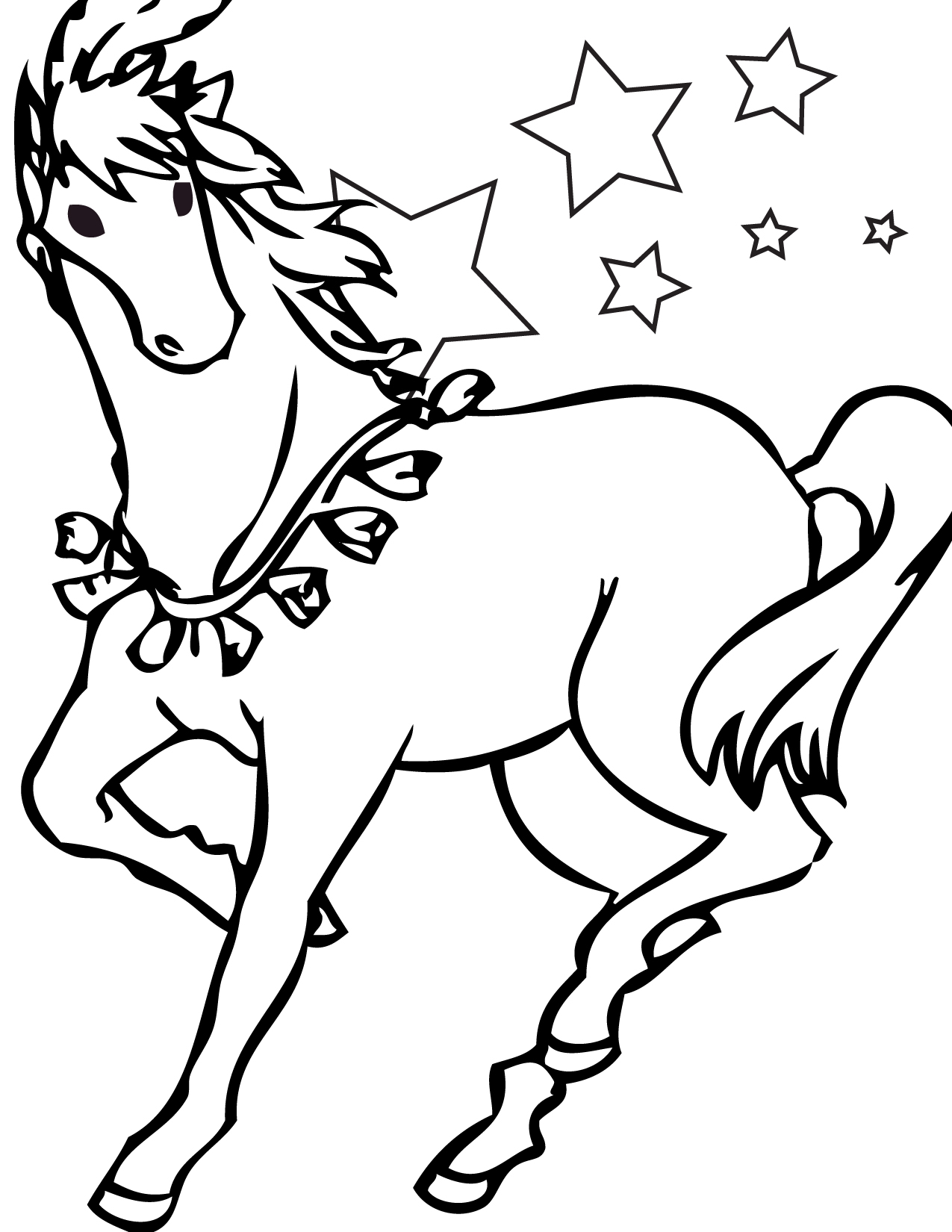 coloring page horse horse coloring pages preschool and kindergarten horse coloring page