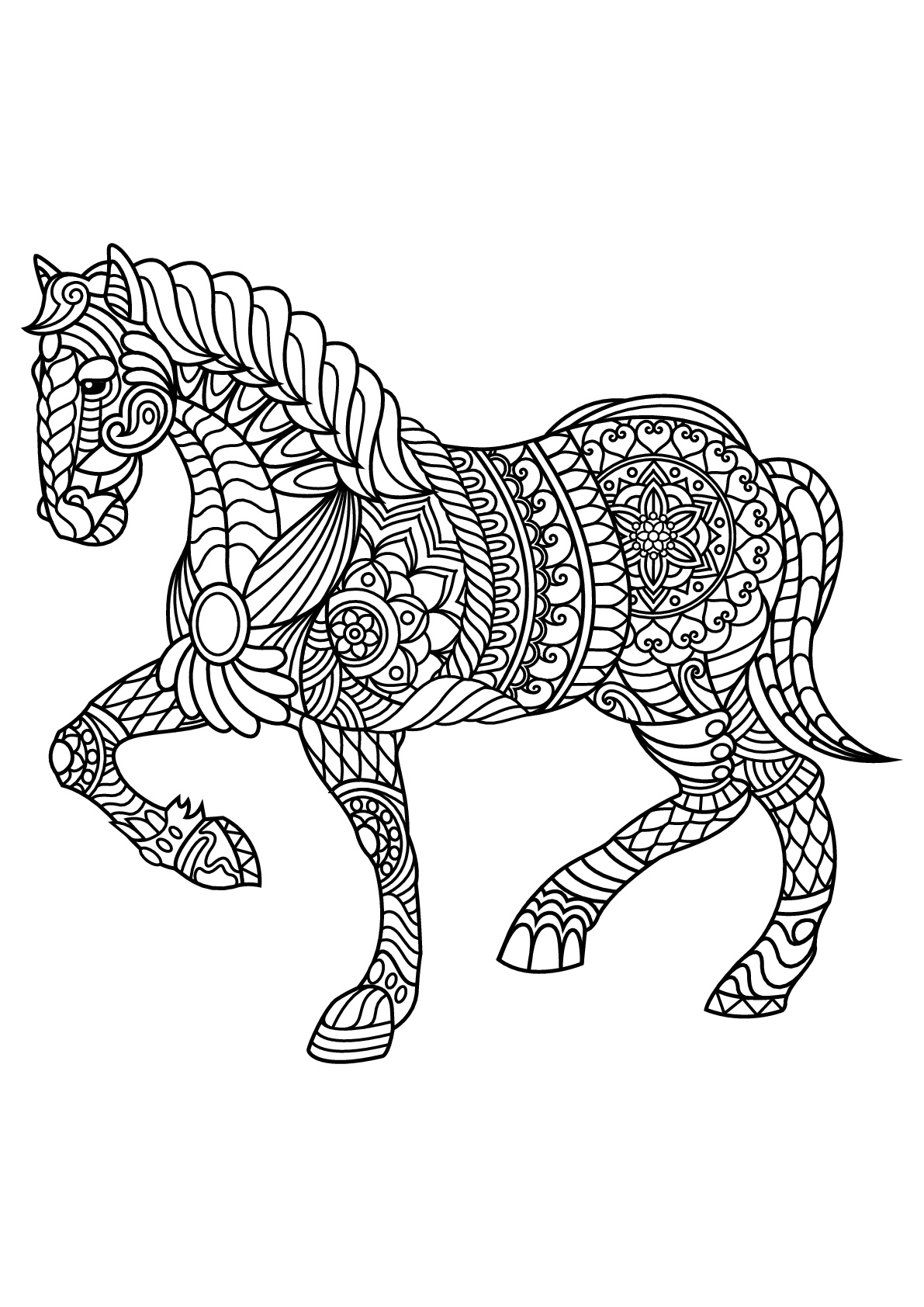 coloring page horse palomino horse coloring pages download and print for free coloring page horse