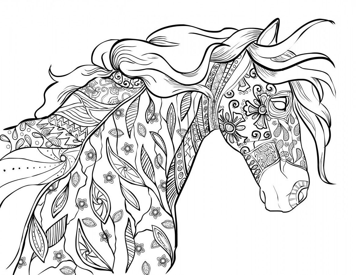 coloring page horse realistic horse coloring pages to download and print for free horse page coloring