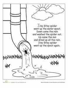 coloring page itsy bitsy spider coloring page itsy bitsy spider coloring bitsy itsy page spider