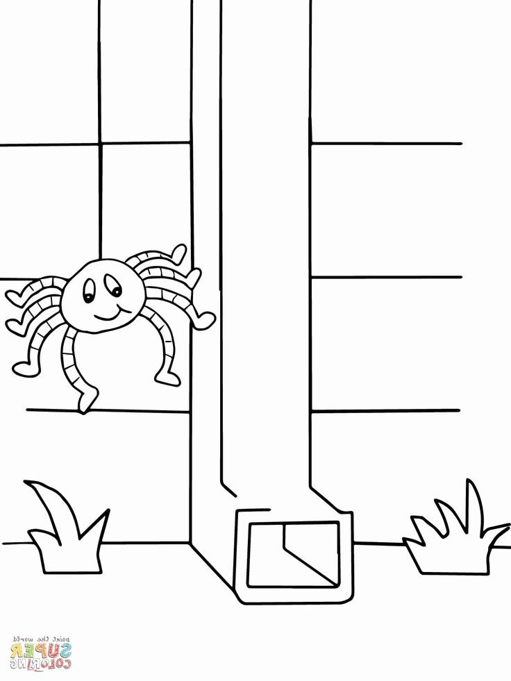 coloring page itsy bitsy spider coloring pages itsy bitsy spider went up the spout again itsy page bitsy coloring spider