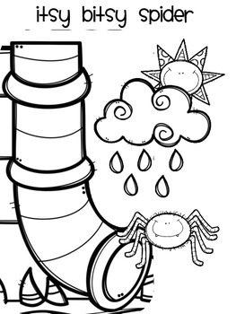 Coloring page itsy bitsy spider