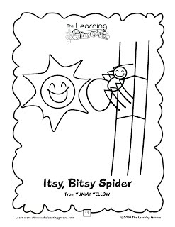 coloring page itsy bitsy spider nursery rhymes on pinterest nursery rhymes itsy bitsy page bitsy spider itsy coloring