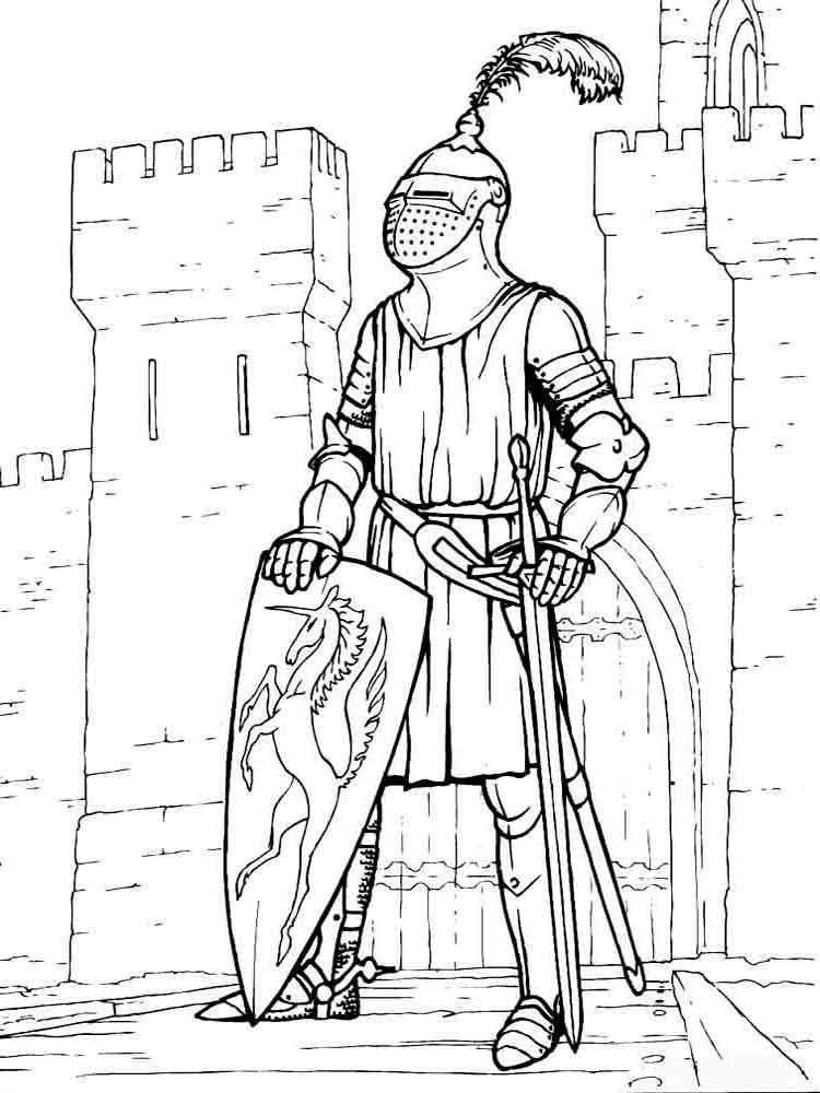 coloring page knight knight coloring pages to download and print for free knight coloring page 1 1