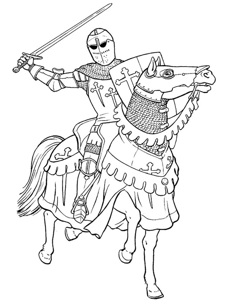 coloring page knight knights coloring pages download and print knights coloring knight page 1 2