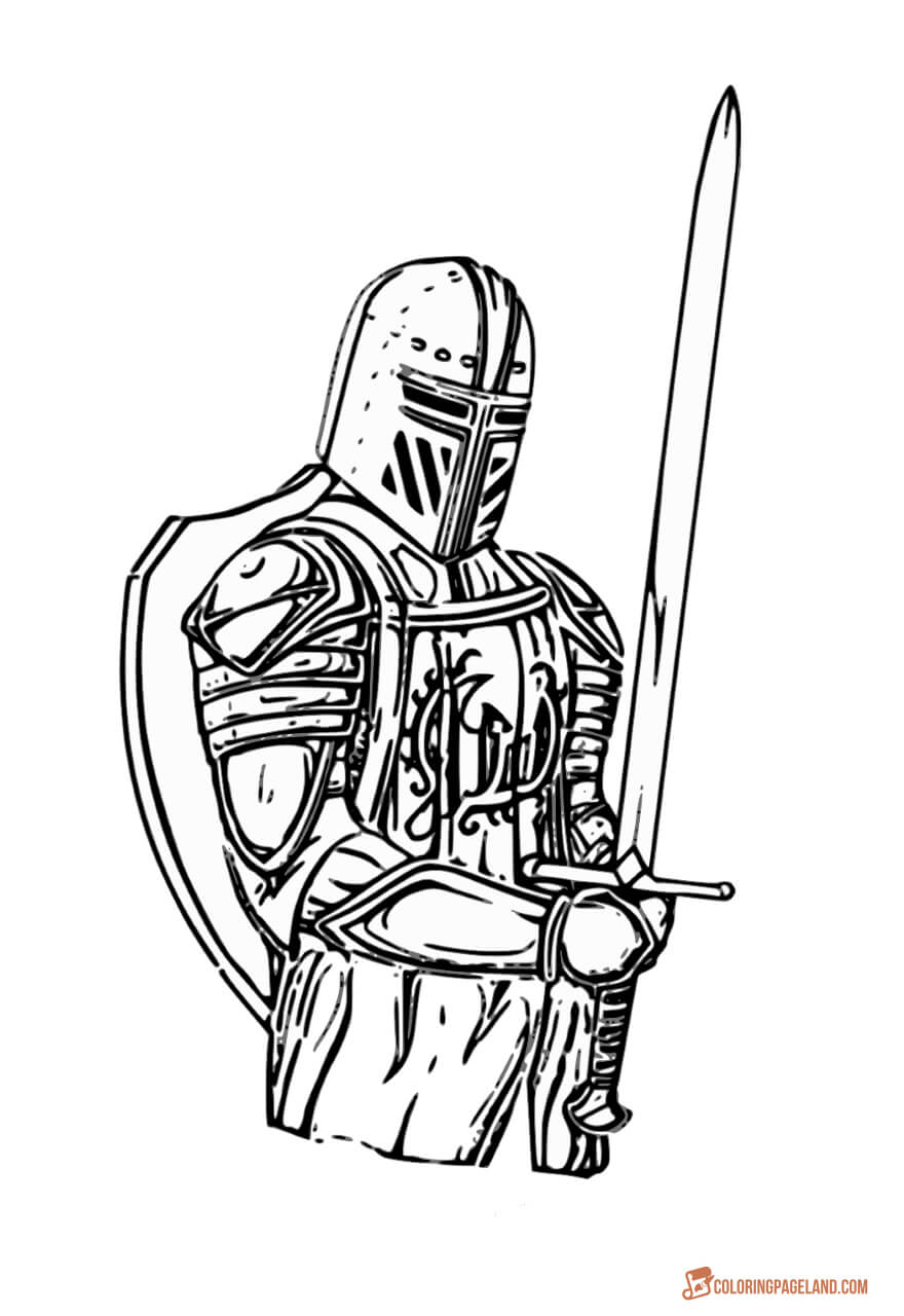 coloring page knight knights coloring pages kidsuki page coloring knight
