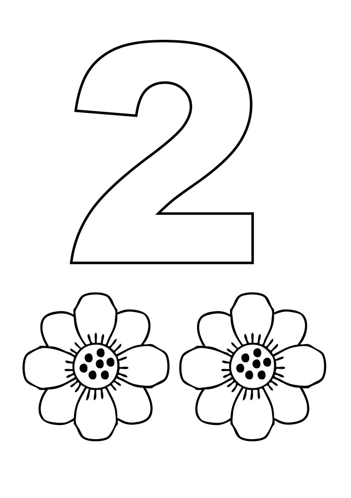 coloring page number 2 free printable number 2 template coloring page 2 number page coloring