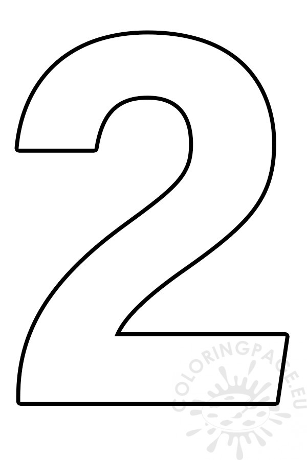 coloring page number 2 number 2 coloring page tim39s printables 2 number page coloring