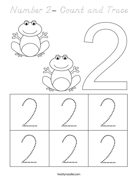 coloring page number 2 number 2 coloring pages for toddlers coloringsnet page number coloring 2
