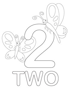 coloring page number 2 number two learning coloring pages 6 preschool and number page coloring 2