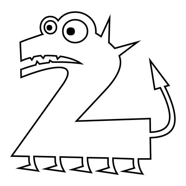 coloring page number 2 preschool alphabet coloring pages free numbers pokemon number coloring page 2