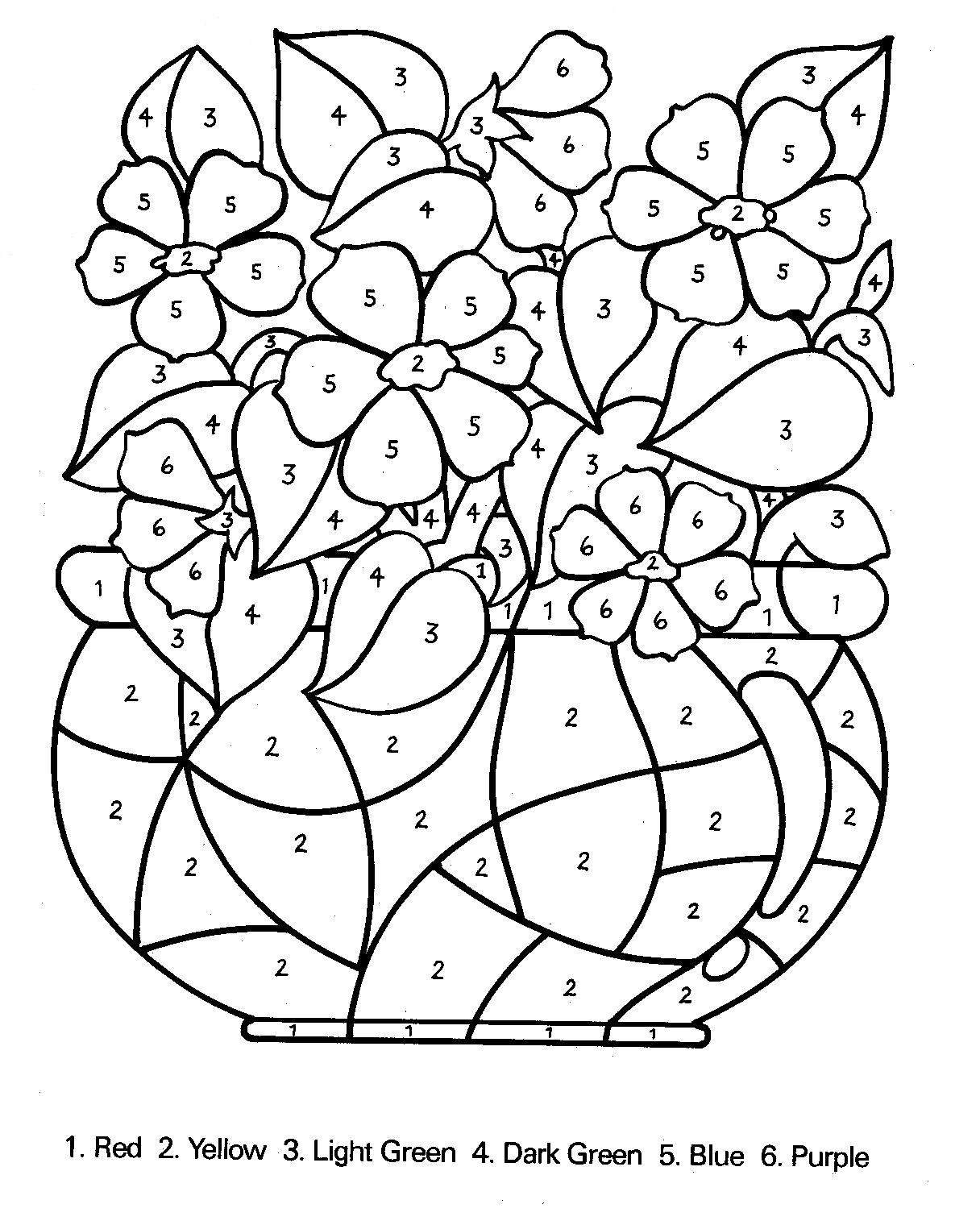 coloring page numbers free printable color by number coloring pages best coloring numbers page