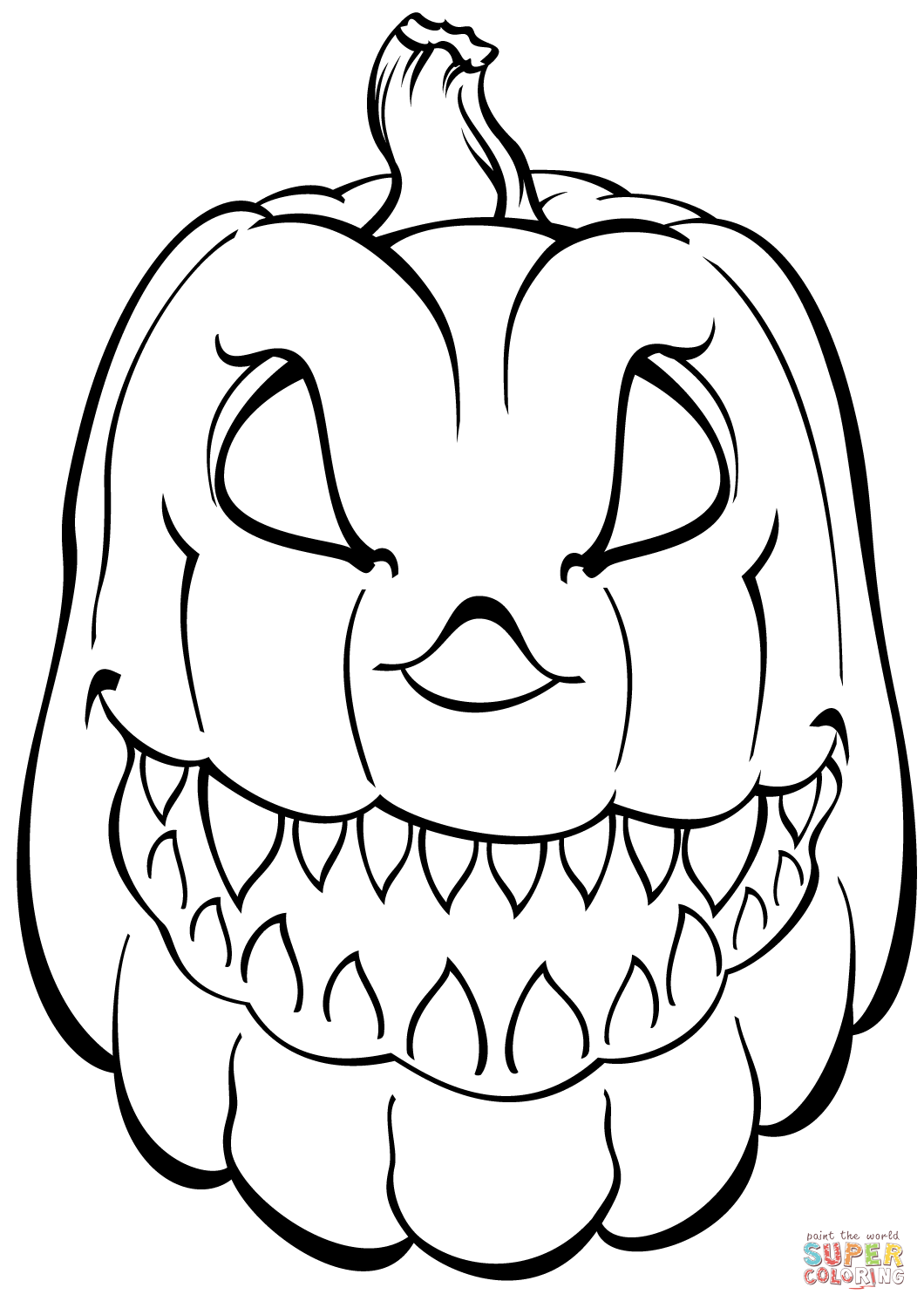 coloring page of a pumpkin scary pumpkin coloring page free printable coloring pages a pumpkin coloring of page