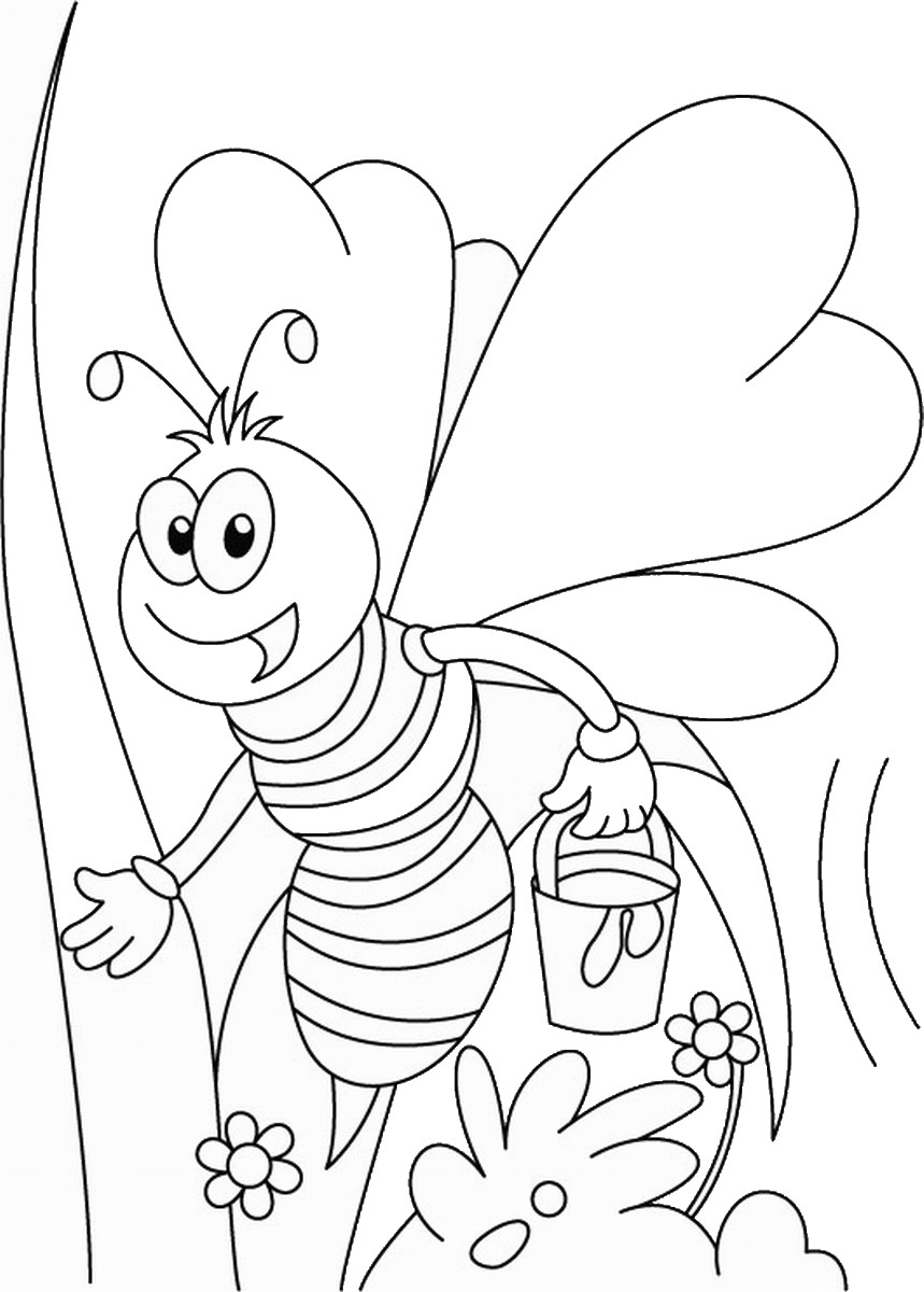 coloring page of bee bee coloring pages coloring of bee page