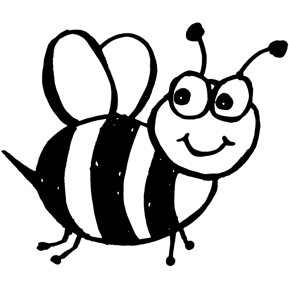 Coloring page of bee