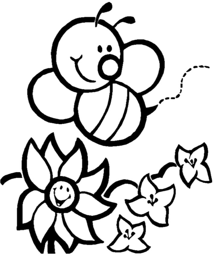 coloring page of bee cute bee pictures clipartsco page bee coloring of