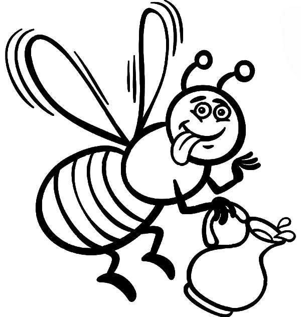 coloring page of bee pictures of bees to color amazing wallpapers of page coloring bee