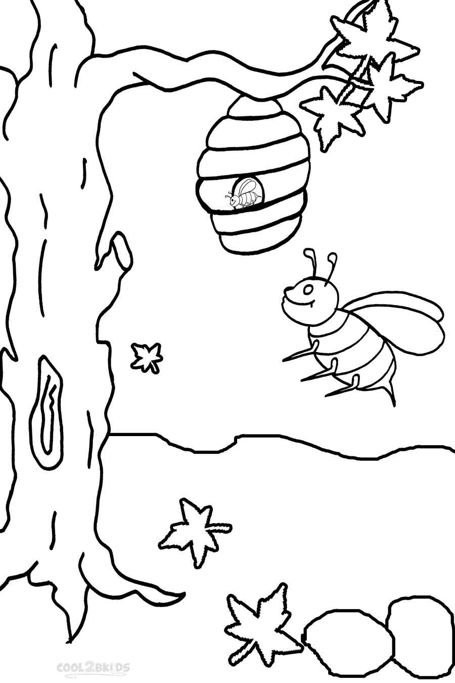coloring page of bee printable bumble bee coloring pages for kids cool2bkids of coloring bee page
