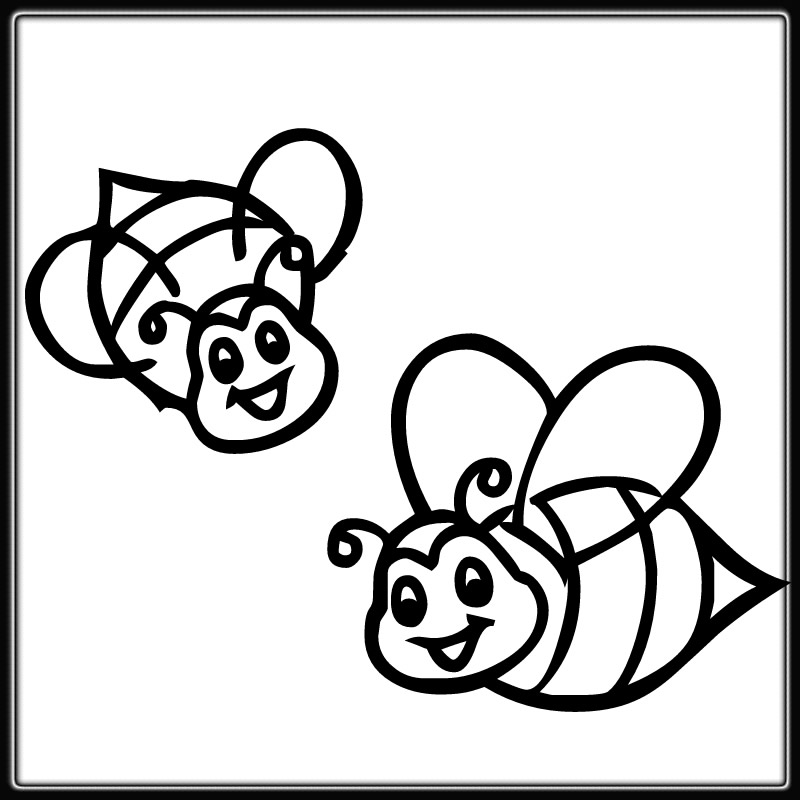 coloring page of bee printable happy honey bees coloring page page of coloring bee
