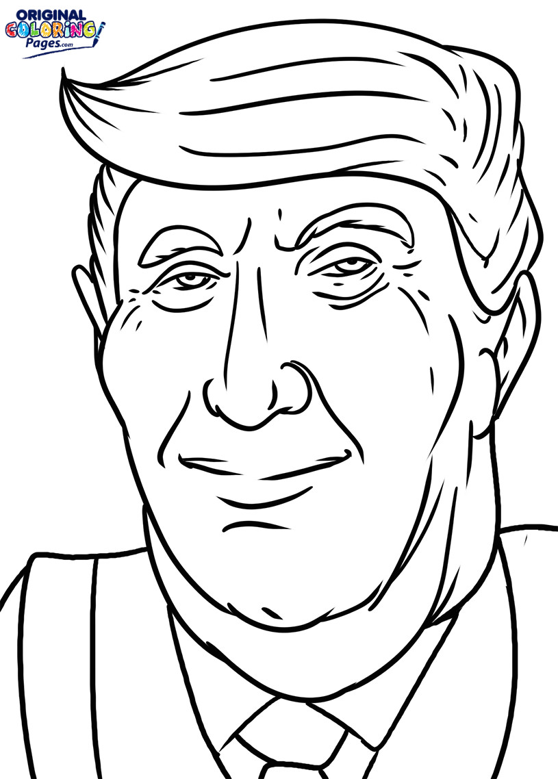 coloring page of donald trump donald trump 2016 coloring pages printable of page coloring donald trump