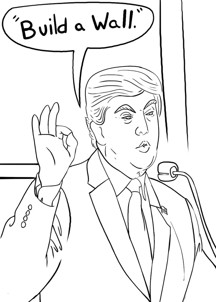 coloring page of donald trump donald trump coloring book coloring pages for kids of page trump coloring donald