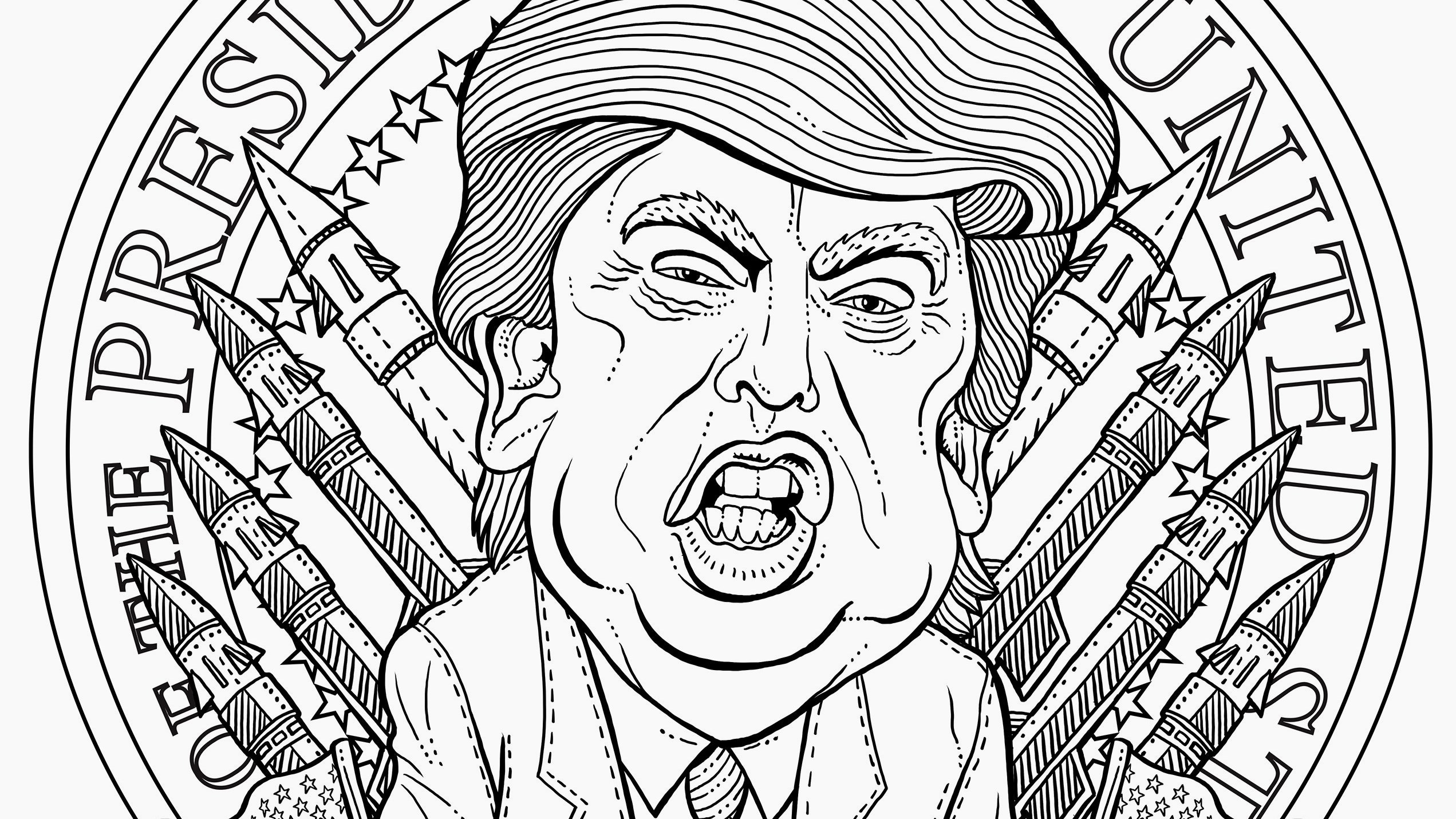 coloring page of donald trump gratis president donald trump kleurplaat template trump of page coloring donald