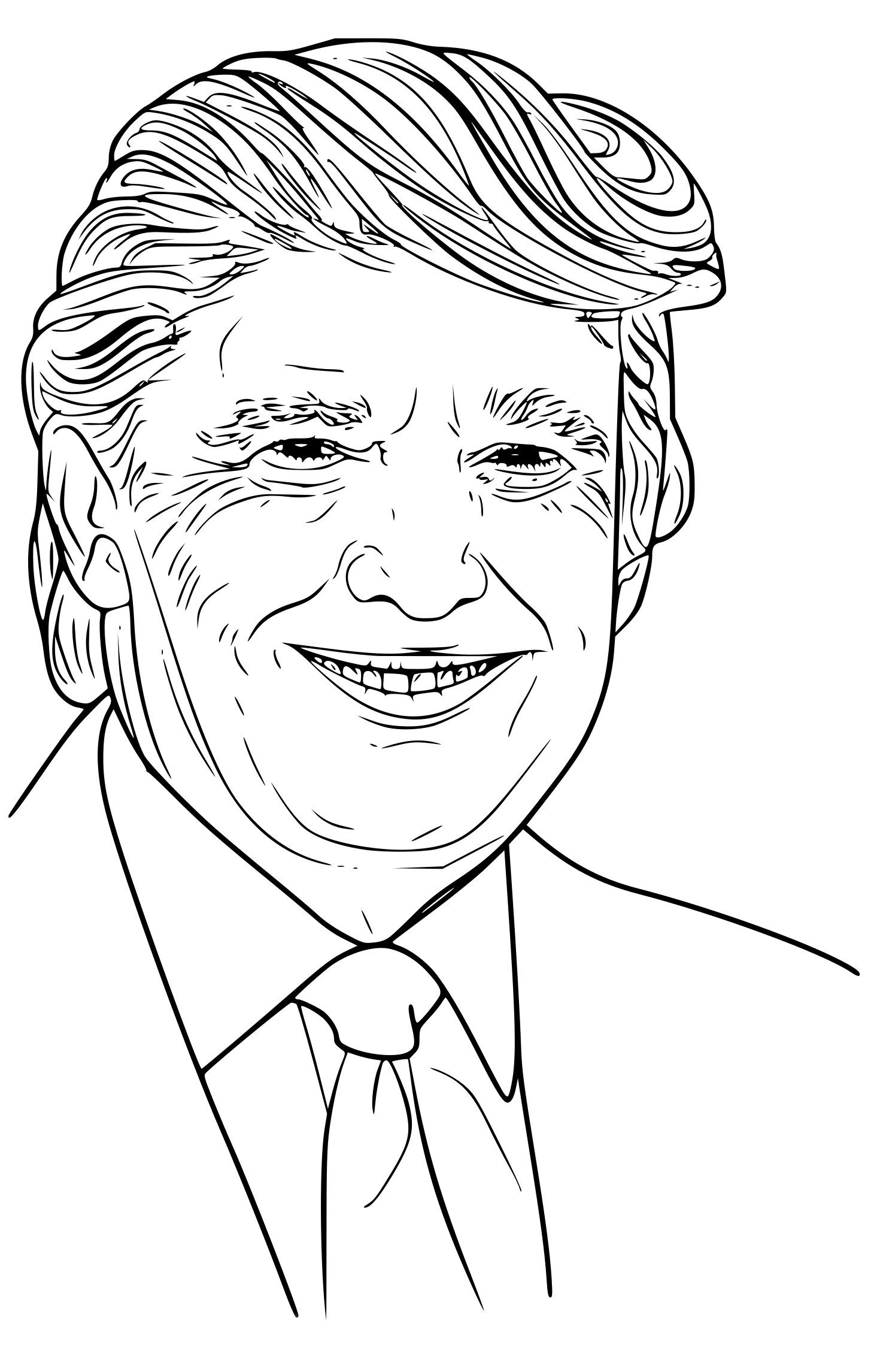 coloring page of donald trump trump coloring pages at getcoloringscom free printable coloring trump page donald of