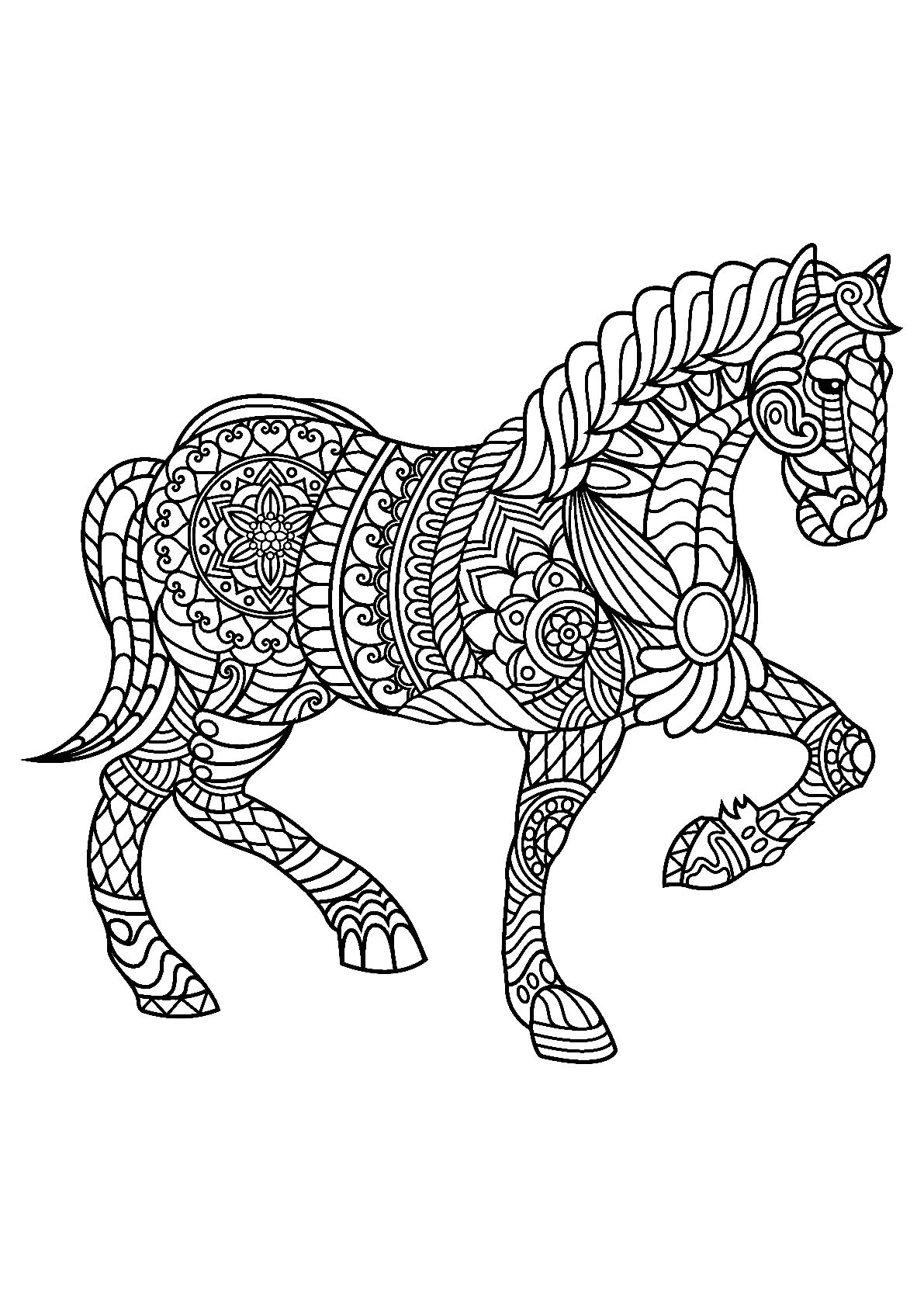coloring page of horse free horse coloring pages selah works cindy39s adult of coloring page horse