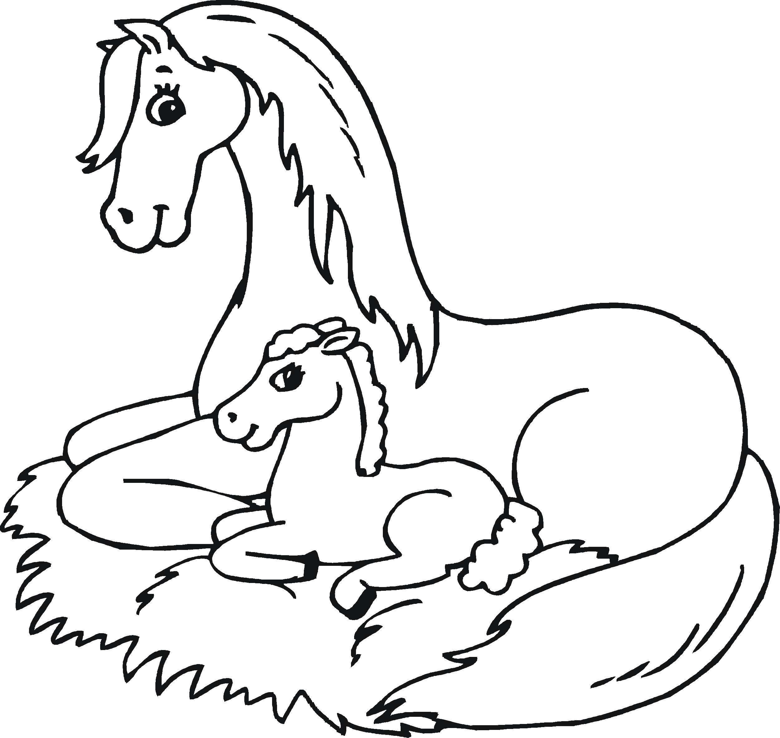 coloring page of horse fun horse coloring pages for your kids printable coloring horse of page 1 1