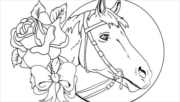 coloring page of horse fun horse coloring pages for your kids printable coloring page of horse