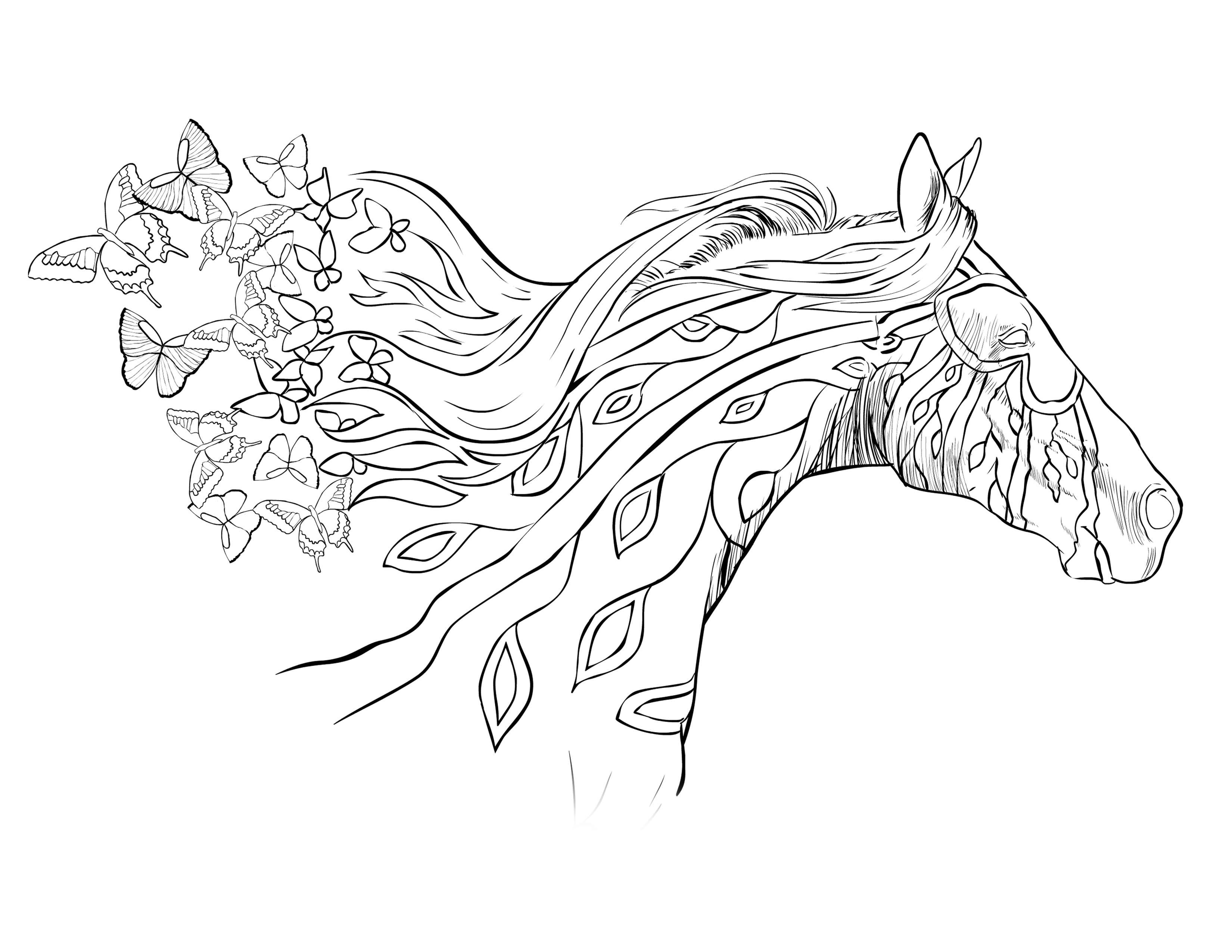 coloring page of horse horse coloring pages and printables coloring page horse of