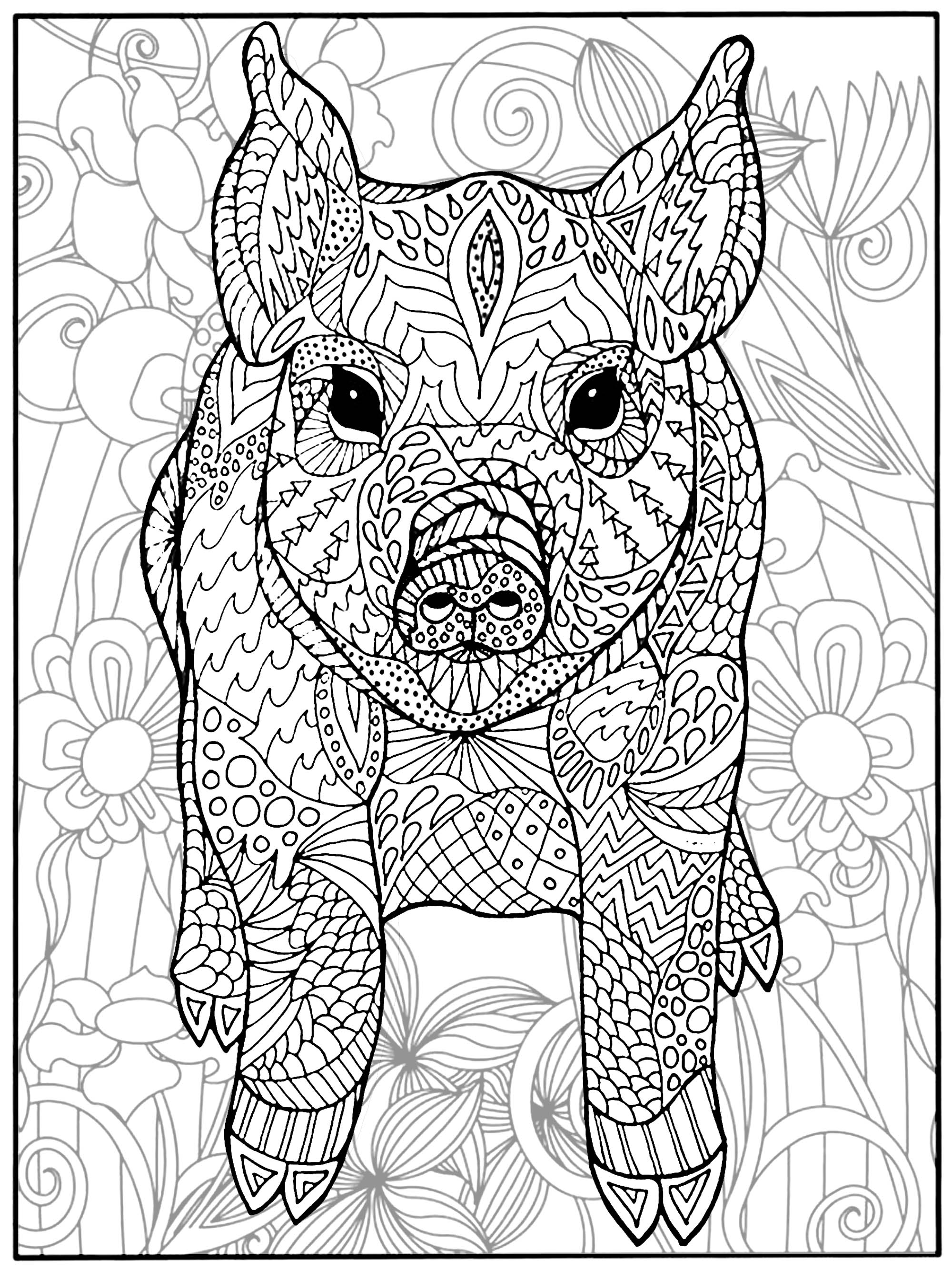 coloring page of pig cute piglet pig in a teacup coloring page rubber stamp pig page coloring of