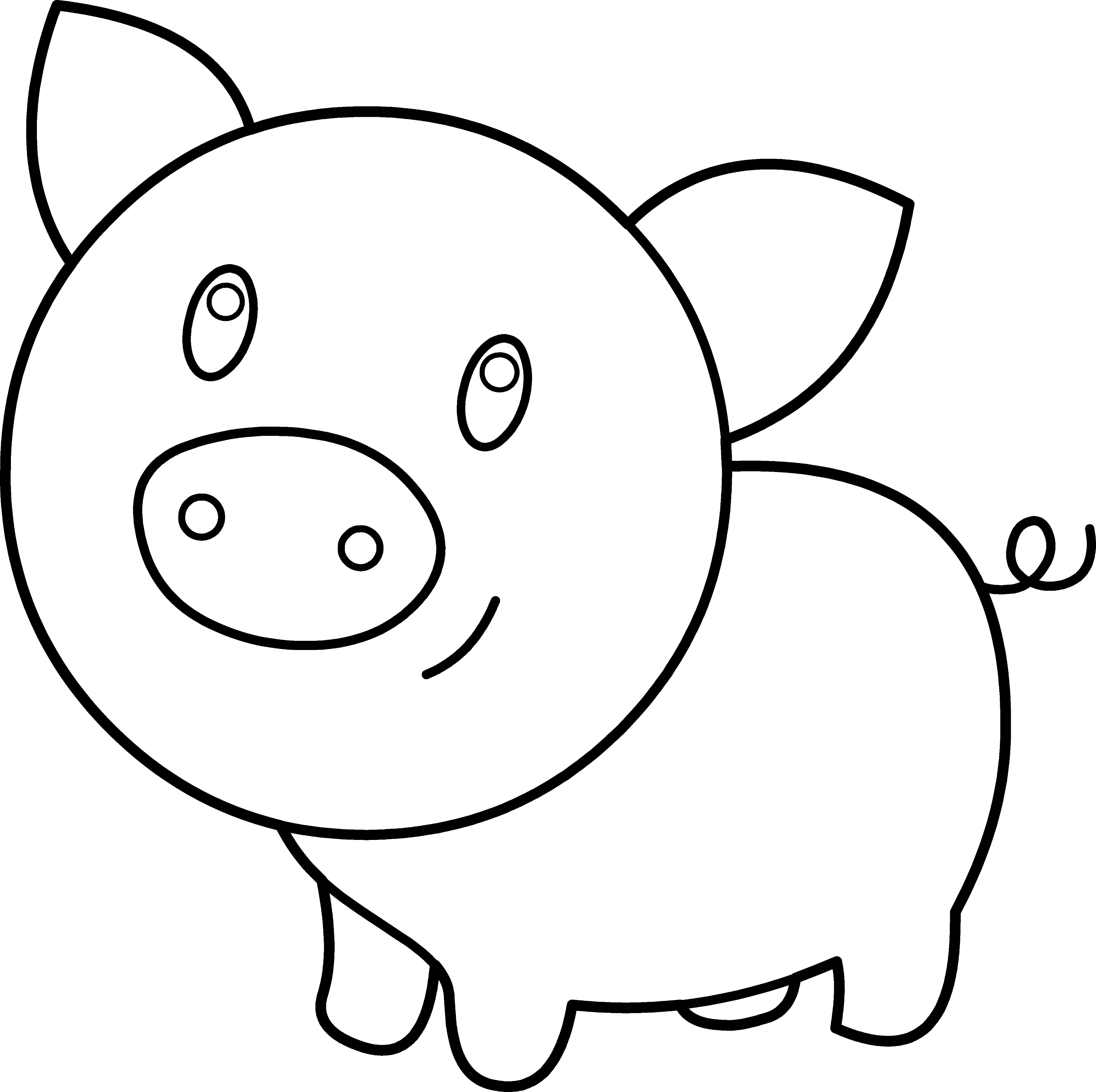 coloring page of pig free easy to print pig coloring pages tulamama of pig page coloring