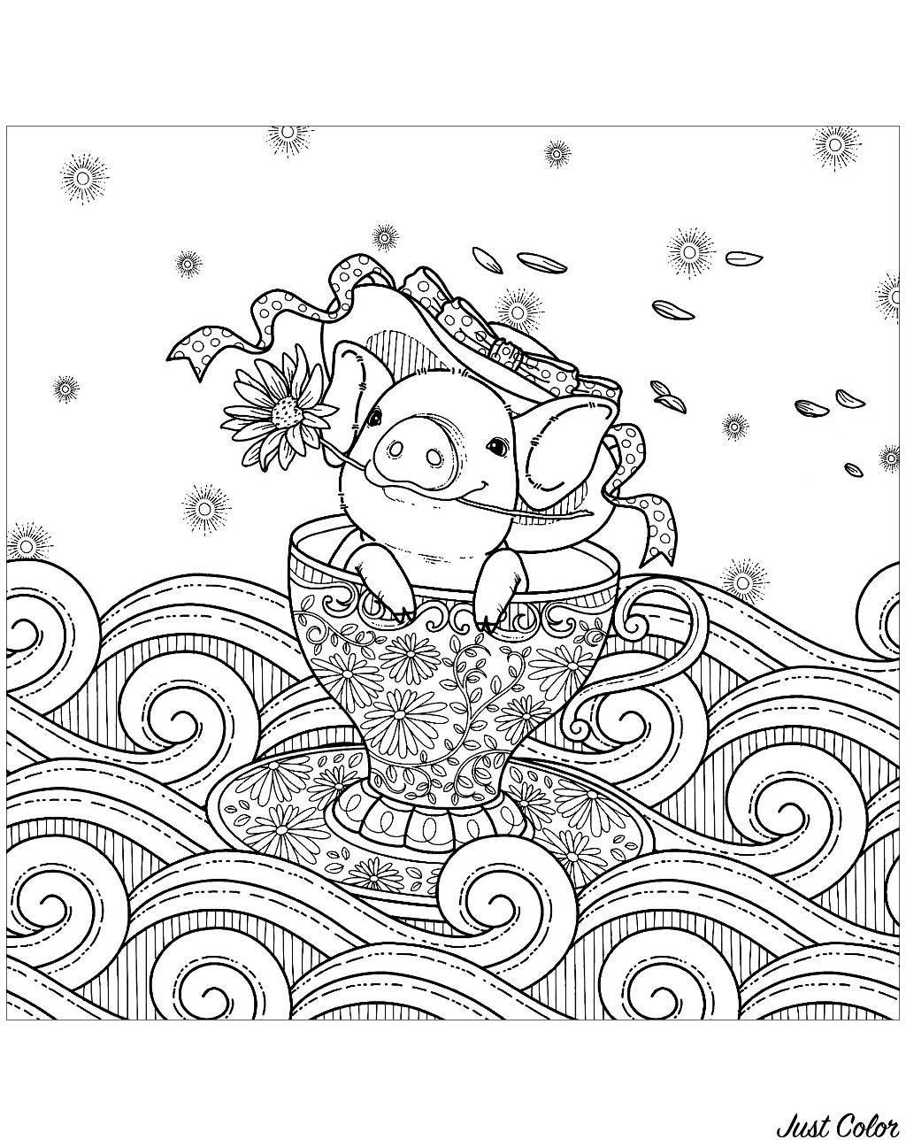 coloring page of pig pig coloring pages for adults top free printable coloring page pig of